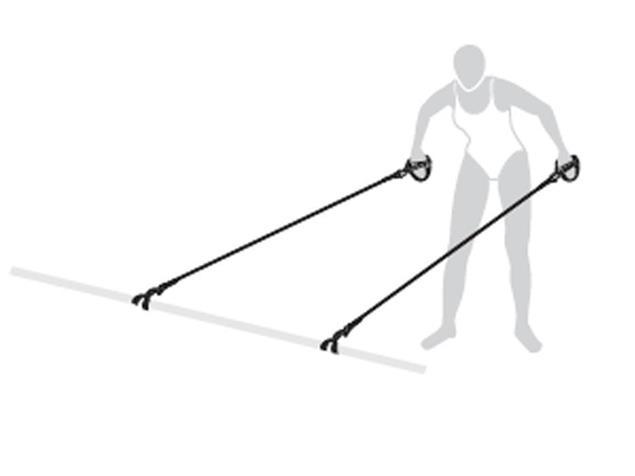 Mad Wave Dry Training Trainingsband mit Hand-Paddles - 1 (1.3-3.6 kg)