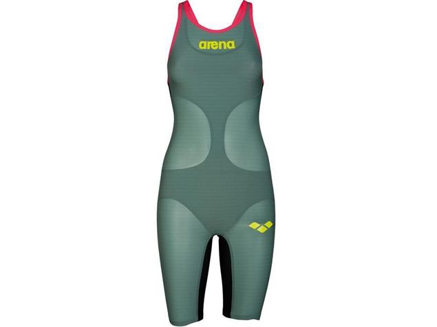 Arena Powerskin Carbon Air Wettkampfanzug FBSL, Open Back - 36 dark green/fluo red