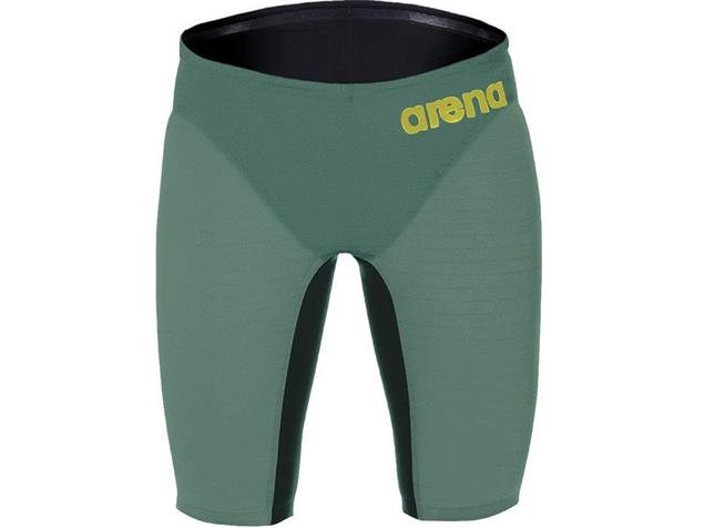 Arena Powerskin Carbon Air Jammer Wettkampfhose - 3 dark green/fluo red