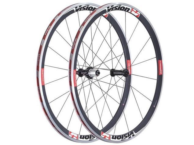 Vision Trimax Carbon 35 Laufradsatz rotes Dekor - Shimano/SRAM 10-/11-fach