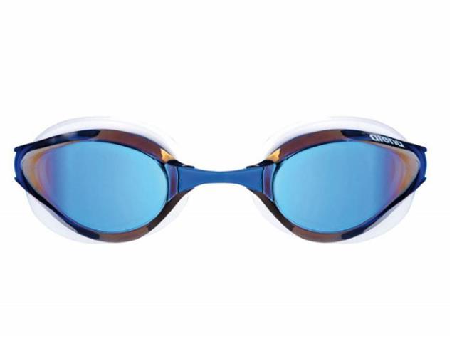 Arena Python Mirror Schwimmbrille - white/blue mirror