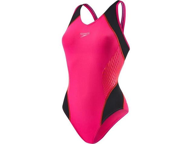 Speedo Fit Splice Badeanzug Muscleback - Endurance+ - 40 pink/red