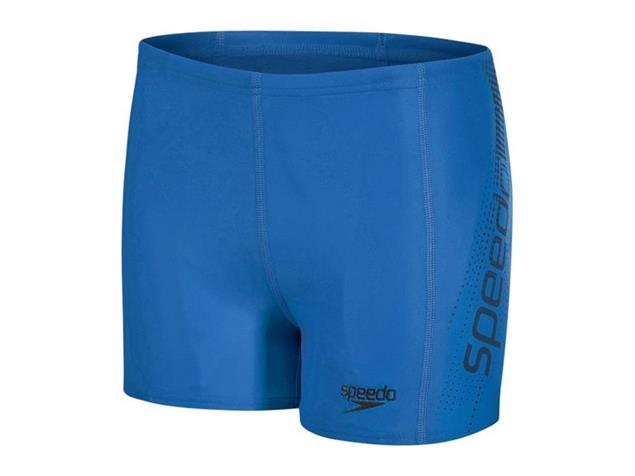 Speedo Sports Logo Aquashort Jungen Badehose Endurance10 - 140 blue/black