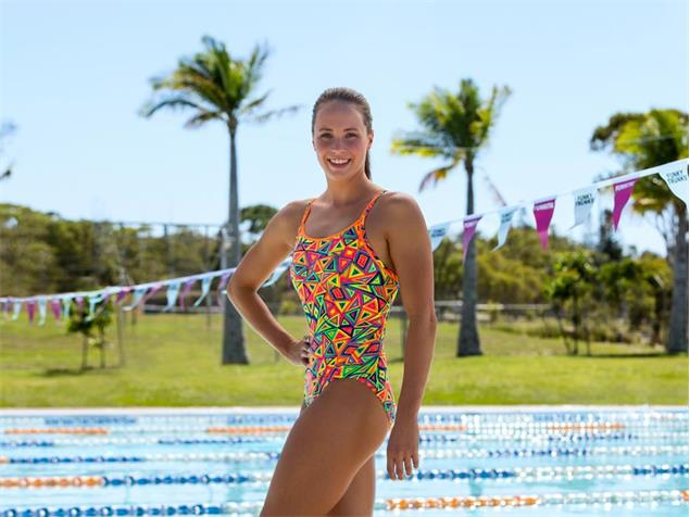 Funkita Crazy Crayon Ladies Badeanzug Diamond Back - 40 (14)