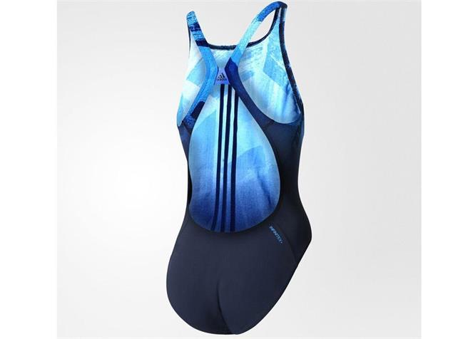 Adidas Graphic 3 Stripes Badeanzug Infinitex+ - 42 navy/shock blue