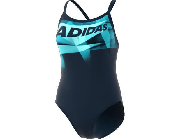 Adidas Graphic Badeanzug Sprint Line - Infinitex+ - 34 mystery blue/mint