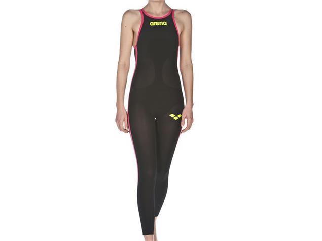 Arena Powerskin R-EVO+ Open Water Women Wettkampfanzug Full Body, Closed Back - 28 black/fluo yellow