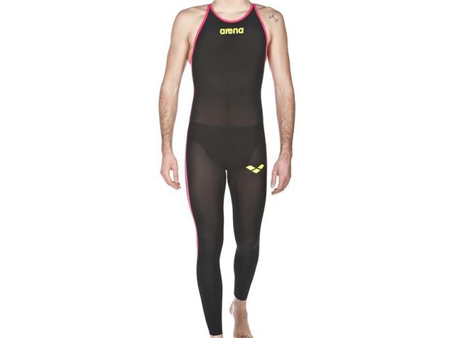 Arena Powerskin R-EVO+ Open Water Wettkampfanzug Herren, Full Body, Closed Back - 4 black/fluo yellow