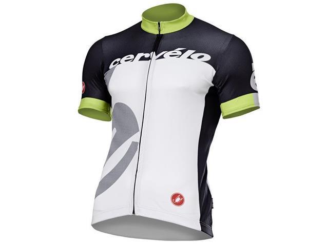 Castelli Cervelo Team Trikot - L black/white/acid green