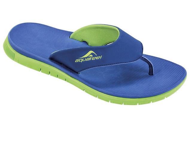 Aquafeel V-Strap Herren Zehensandale Badeschuh - 45 blau/grün