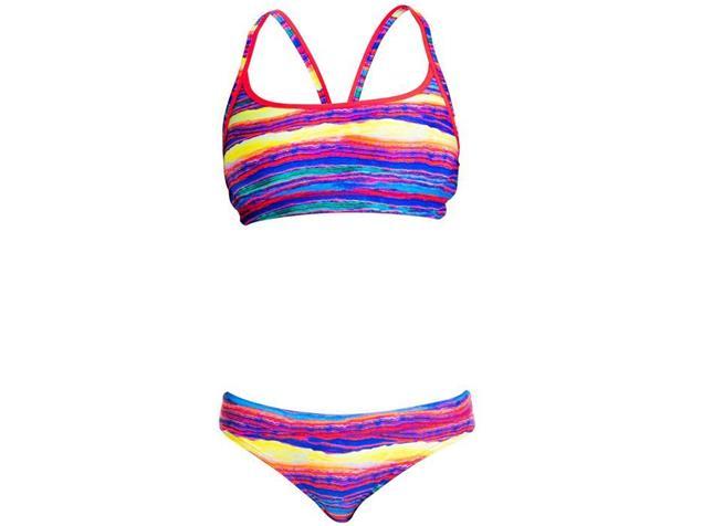 Funkita Crystal Wave Ladies Schwimmbikini Sports Top + Sports Brief - 38 (12)