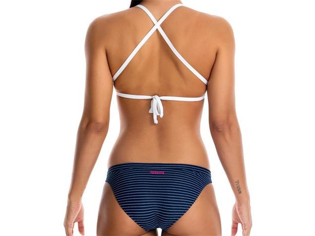 Funkita White Stripes Ladies Schwimmbikini Tri Top + Hipster Brief - 40 (14)