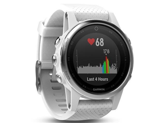 Garmin Fenix 5S GPS Multisportuhr silber Armband weiß
