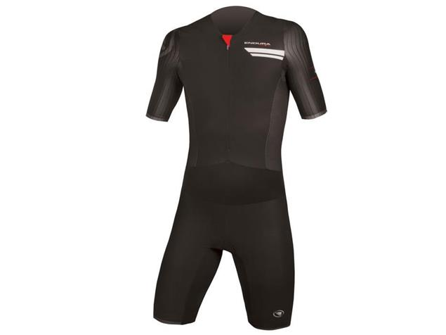 Endura QDC Drag2Zero Trisuit Einteiler short sleeve - S black