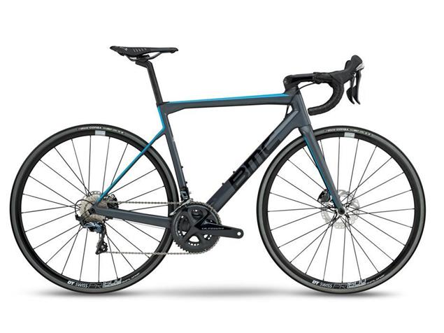 BMC Teammachine SLR01 Disc Two Ultegra Rennrad - 56 grey/blue