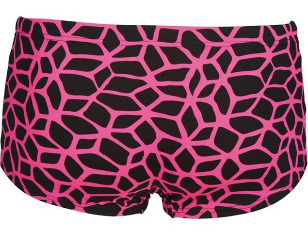 Arena Carbonics Short Badehose Low Waist - 5 black/fresia rose