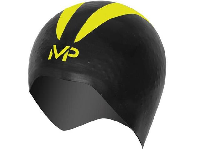 MP Michael Phelps 3D X-O Race Cap Badekappe Größe M - Aqua Sphere - black/fluo yellow