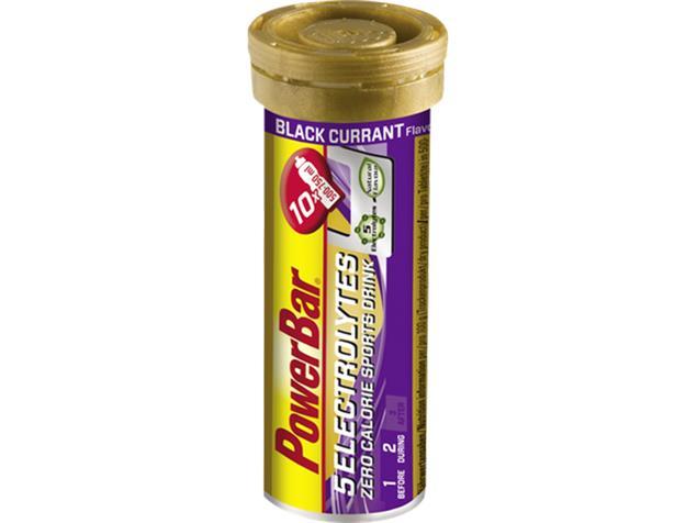 PowerBar 5 Electrolytes Sports Drink Tabs Brausetabletten - black currant