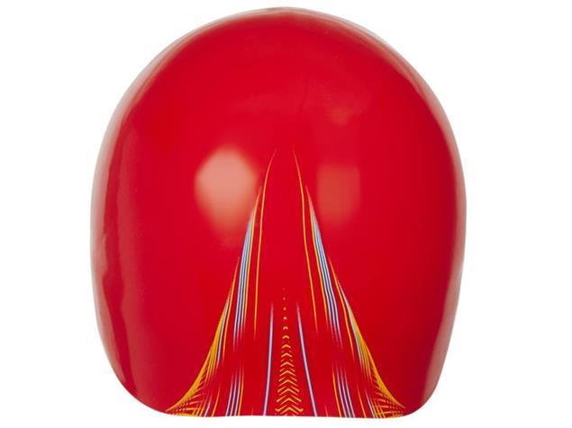 Speedo Fastskin Silikon Badekappe lava red/mango/adriatic - L