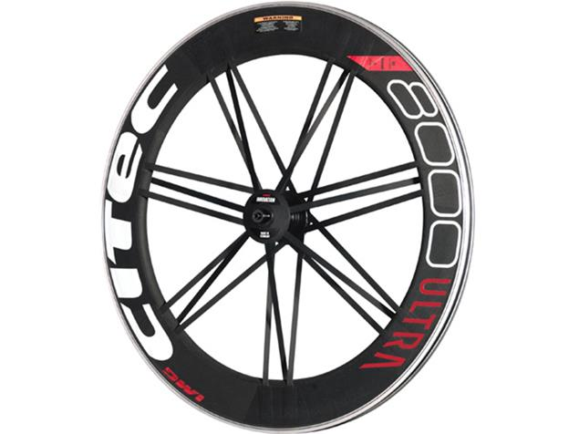 Citec 8000 Ultra Carbon Hinterrad 21 Speichen - Shimano Drahtreifen weiß/schwarz/rot