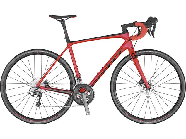 Scott Addict 30 Disc Rennrad - 54/M florida red/black