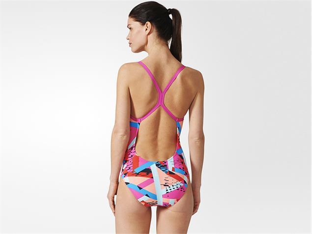Adidas Graphic Badeanzug Infinitex+ - 42 shock pink/bright blue