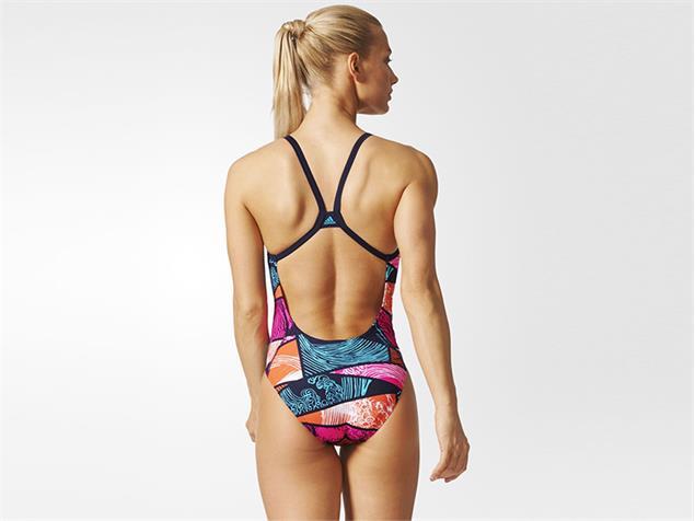 Adidas Parley Badeanzug Infinitex+ - 30 energy blue/easy coral