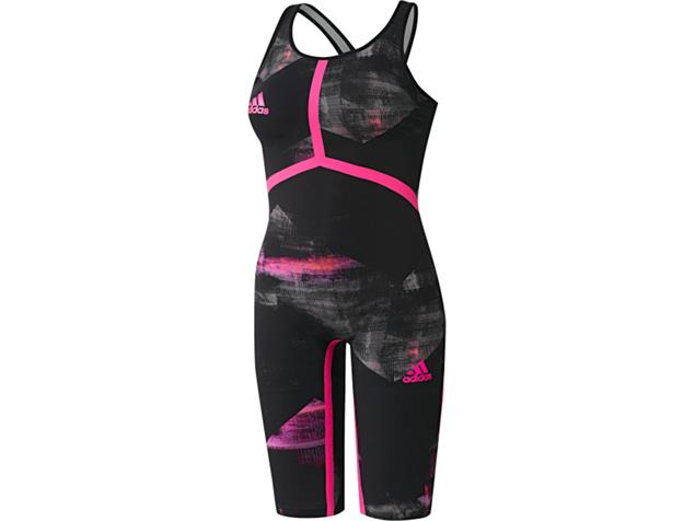 Adidas Adizero XVIII Breastroke Wettkampfanzug Open Back - 22 black/shock pink