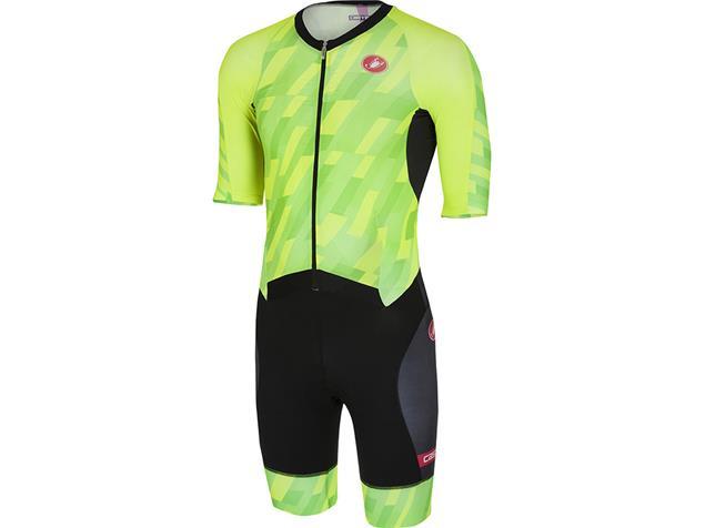 Castelli All Out Speed Suit Tri Einteiler - XXL pro green/black
