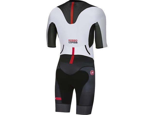 Castelli All Out Speed Suit Tri Einteiler - S white/black