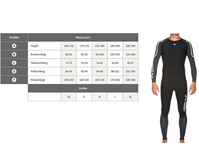 Arena Carbon Compression Men Long Tight - XS black/deep grey