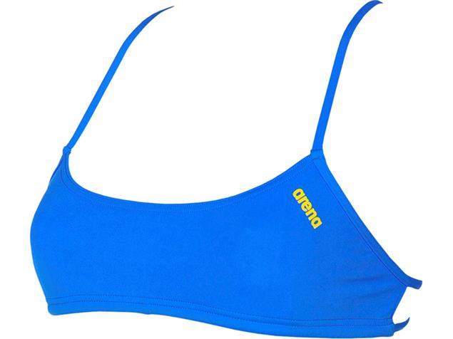 Arena Bandeau Play Schwimmbikini Oberteil Rule Breaker - M pix blue/yellow star