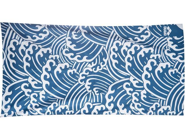 Arena Beach Smart Towel Microfaser Handtuch 170x90 cm - waves
