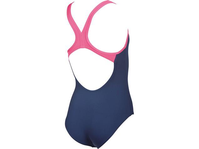 Arena Biglogo Mädchen Badeanzug Swim Pro Back - 116 navy/aphrodite