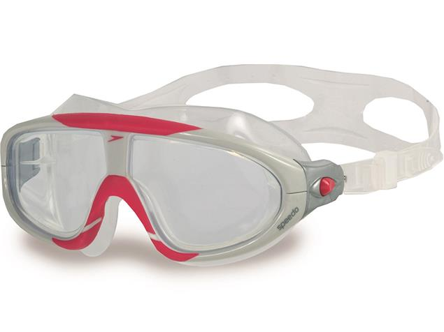Speedo Biofuse Rift  Mask Schwimmbrille - white-red/clear