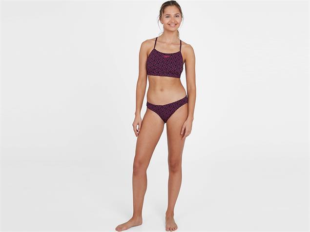 Speedo Boomstar Allover Thinstrap Schwimmbikini  Endurance10 - 40 black/pink