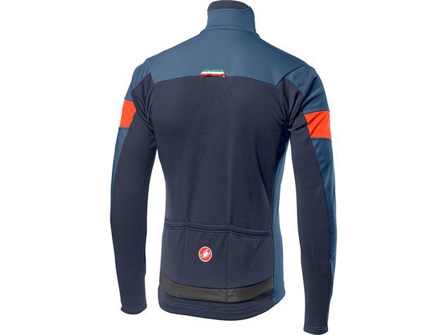 Castelli Transition Jacke - XL light steel blue/orange
