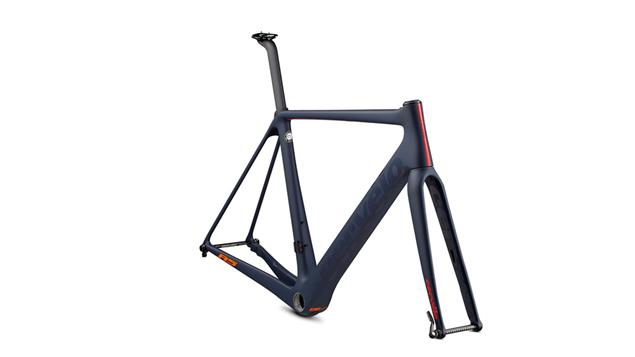 Cervelo R5 Disc Rahmenset - 61 navy/red/orange