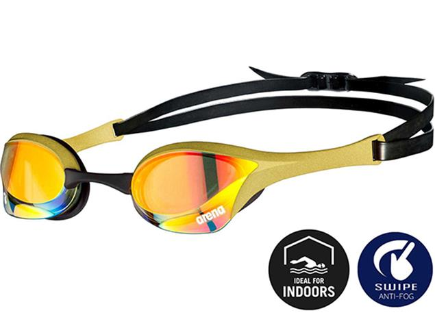 Arena Cobra Ultra Swipe Mirror Schwimmbrille - yellow copper/gold