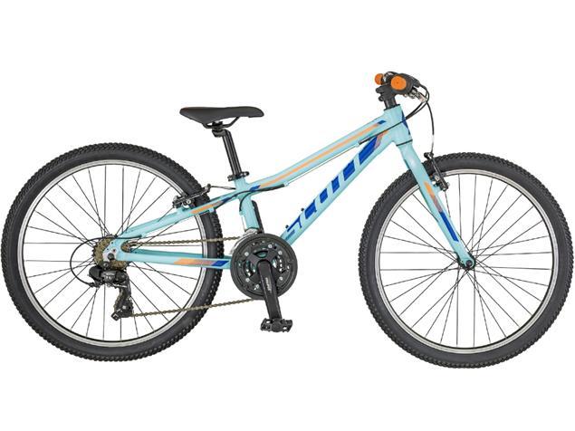 "Scott Contessa JR 24 Rigid Fork Mountainbike - 24"" light blue/blue/peach"