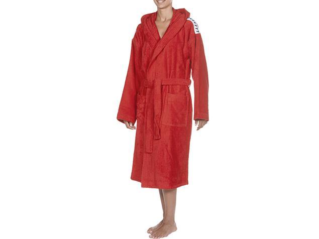Arena Core Soft Robe  Bademantel - M red/white