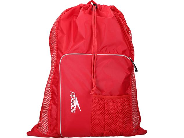 Speedo Deluxe Ventilator Mesh Bag Tasche - red