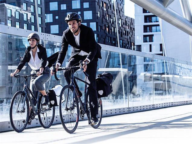 Ortlieb Downtown Two QL3.1 Fahrradtasche - steel blue