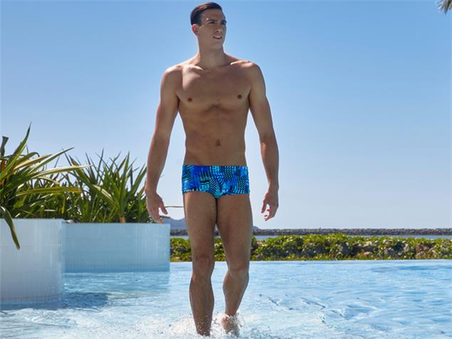Funky Trunks Electric Night Men Badehose Clasic Trunks - L