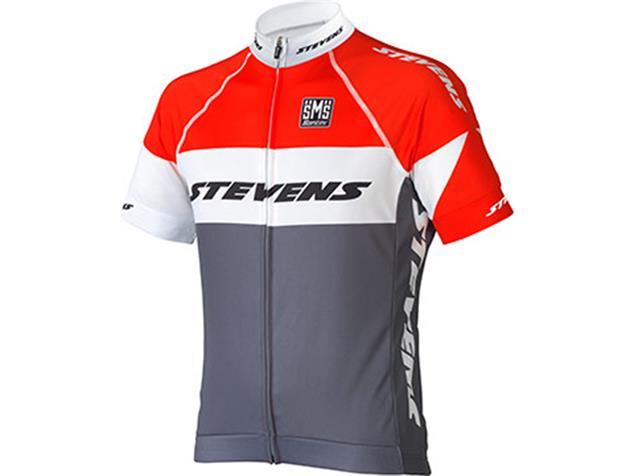 Stevens Equipe Trikot Kurzarm - L grau/feuerrot/weiß