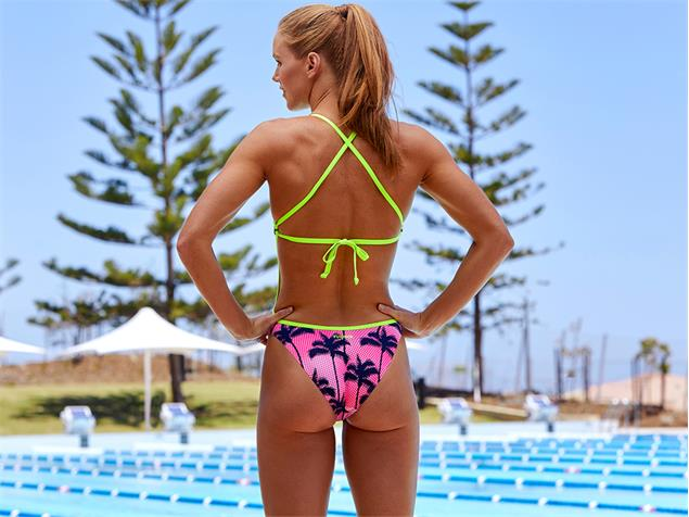 Funkita Pop Palm Ladies Badeanzug Cut Away - 38 (12)