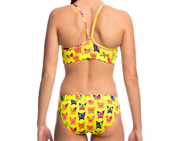 Funkita Hot Diggity Ladies Schwimmbikini Sports Top + Sports Brief - 40 (14)