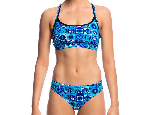Funkita Strike it Lucky Ladies Schwimmbikini Sports Top + Sports Brief - 38 (12)
