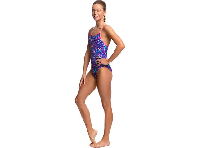 Funkita Swim Swim Girls Badeanzug Diamond Back - 176 (14)
