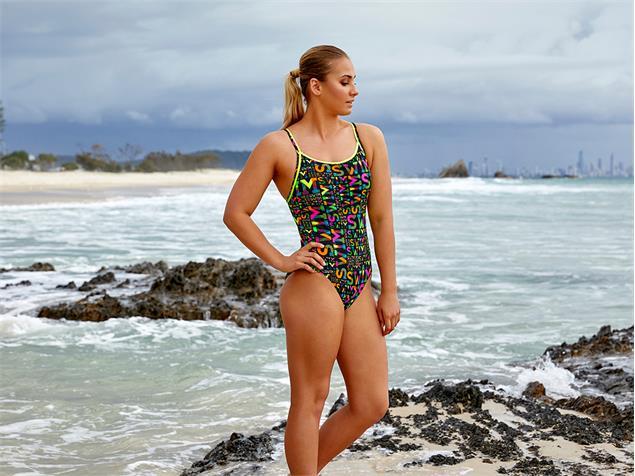 Funkita Night Swim Ladies Badeanzug Diamond Back - 38 (12)